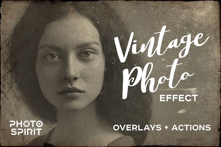 Vintage Old Photo Effect Overlays - Free Design of The Week