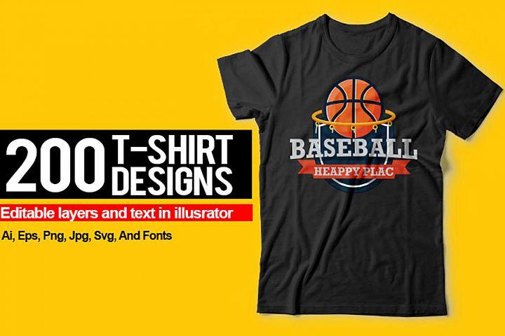 200 T-Shirts Designs Mega Collection