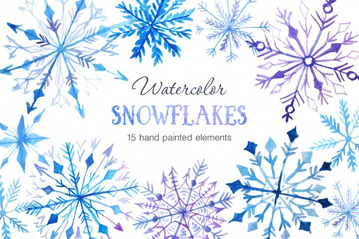 Watercolor Snowflakes Set Vol.2 - Free Design of The Week