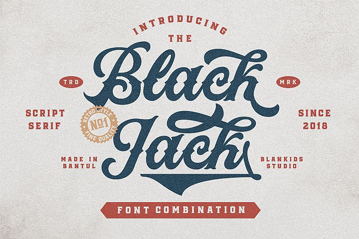 Black Jack Font Combination