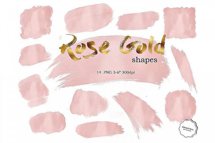 Rose Gold Shapes Clipart