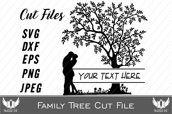 svg cut files, silhouette cut files, cricut cut files, tree svg, family tree, love, wedding, just married, cute