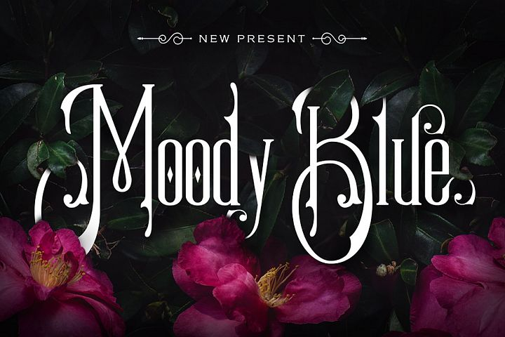 Moody Blue Typeface