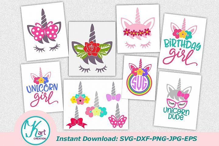 birthday unicorn, unicorn face svg file, unicorn bundle, svg files, kindergarten dude, birthday girl svg, unicorn birthday svg, unicorn horn