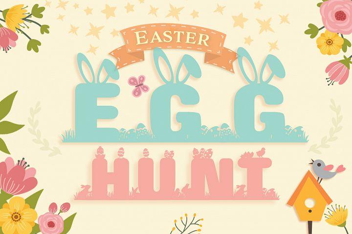 Easter Special: Easter Egg Hunt Font