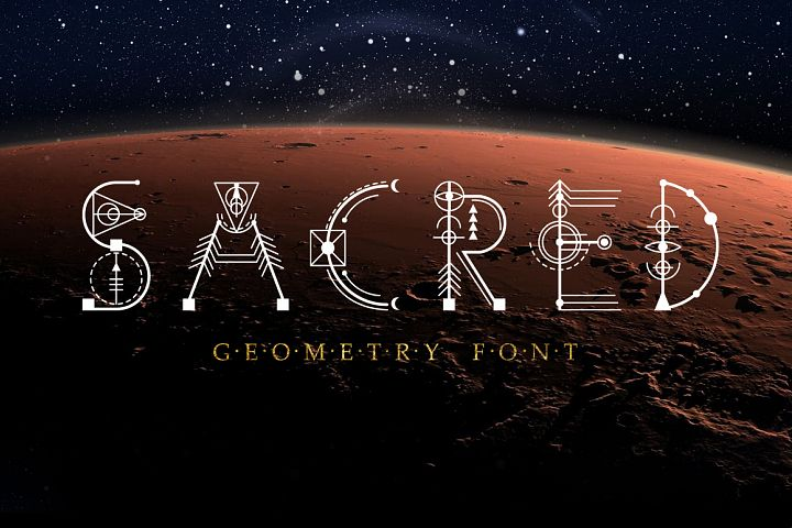 Sacred Geometry Font