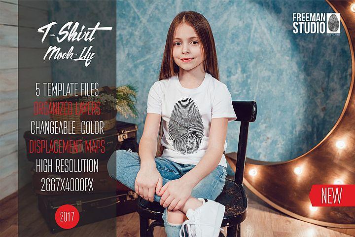 Kids T-Shirt Mock-Up Vol.1 2017