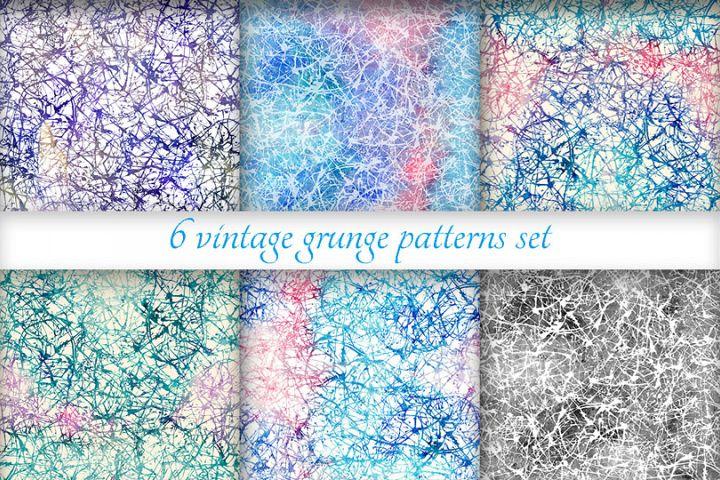Grunge patterns set
