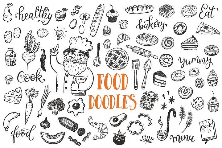 Food dooles set + patterns