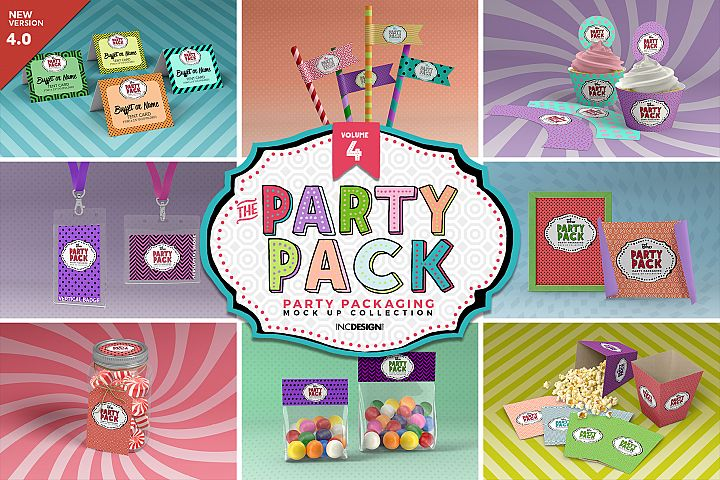 The Party Pack Mockup Collection VOLUME 4