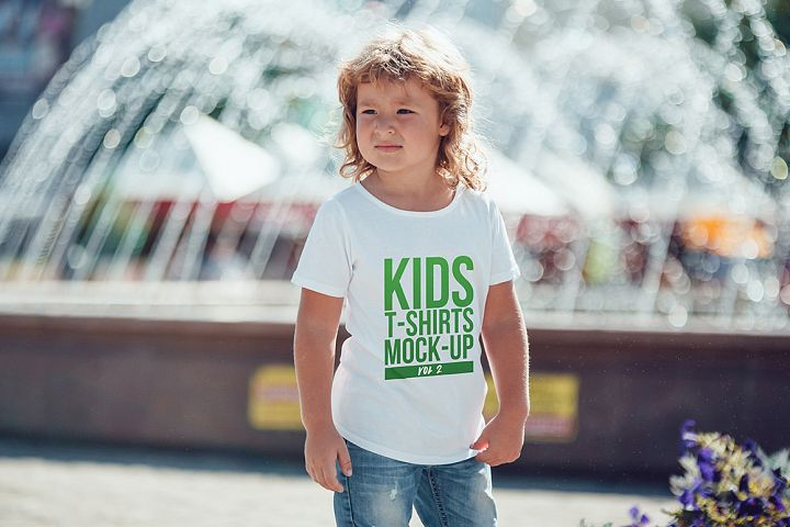 Kids T-Shirt Mock-Up Vol 2
