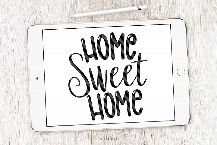Home Sweet Home, Quote SVG, Cutting file, Decal