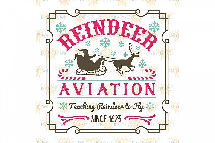 Reindeer Aviation svg Christmas svg