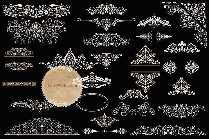 Vintage Ornaments Clip Art Set