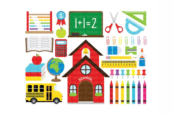 Back To School-Digital Clipart (LES.CL17)