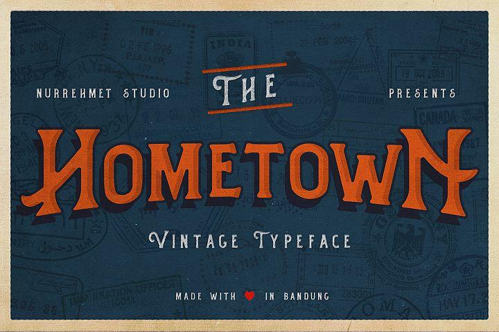 Hometown Vintage Typeface