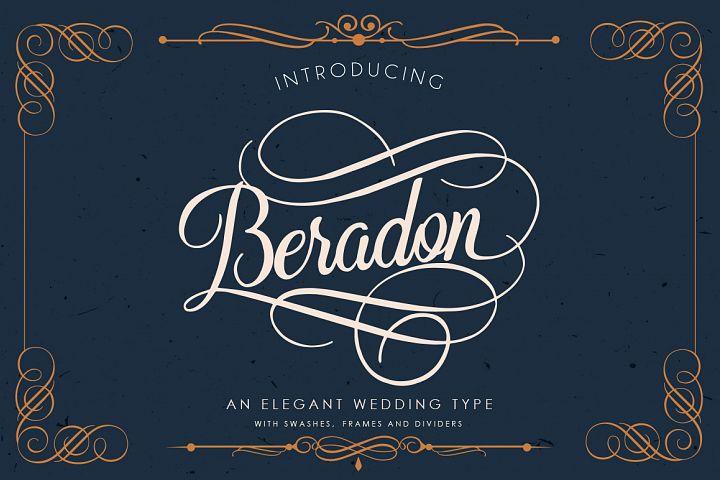 Beradon Script - Elegant Wedding font