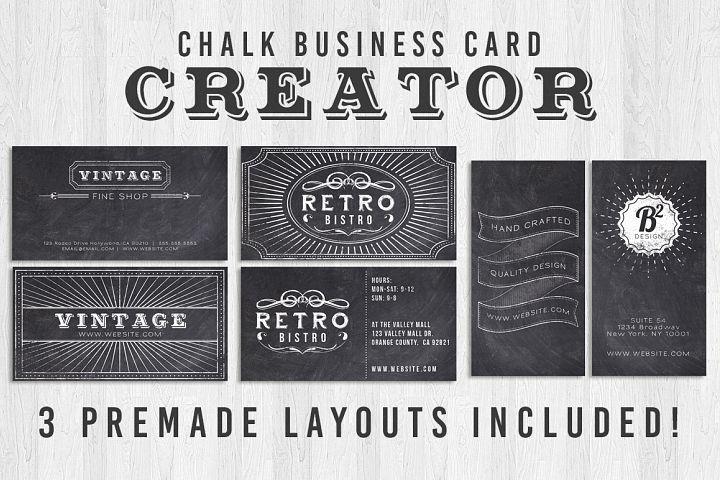 Chalk Business Card Creator