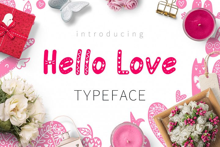 Hello Love - Valentines Day Font