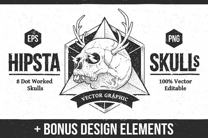 Hipsta Skulls Pack