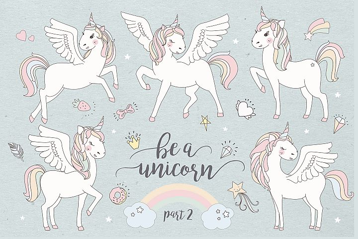 Magical collection of unicorns II