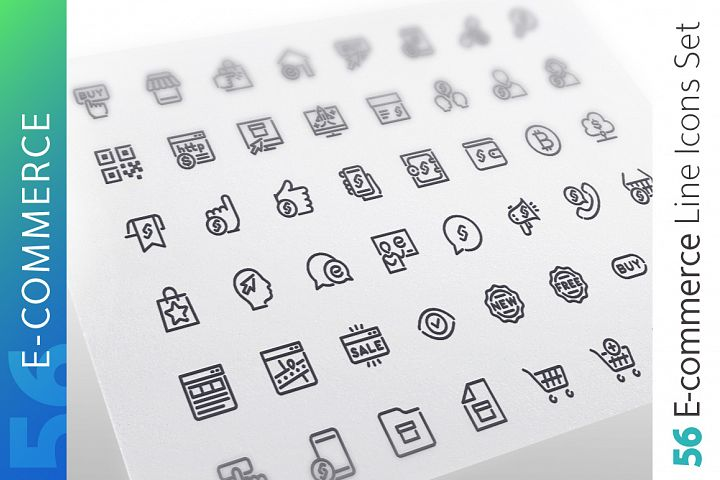 E-Commerce Line Icons Set