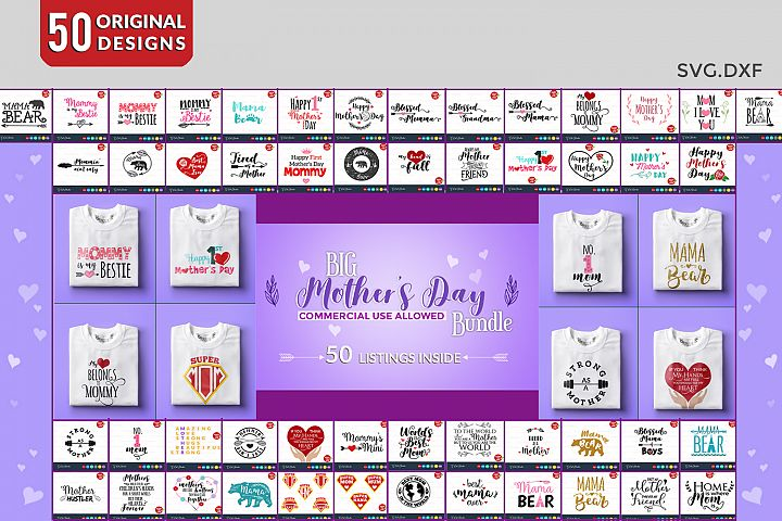 Mothers day bundle svg, mothers day, svg bundle, Files for Silhouette Cameo or Cricut, Commercial & Personal Use.