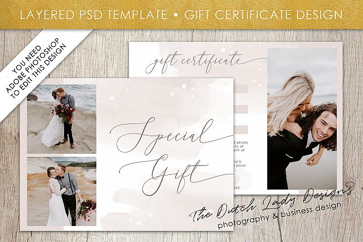 Photo Gift Card Template for Adobe Photoshop - Layered PSD Template - Design #47