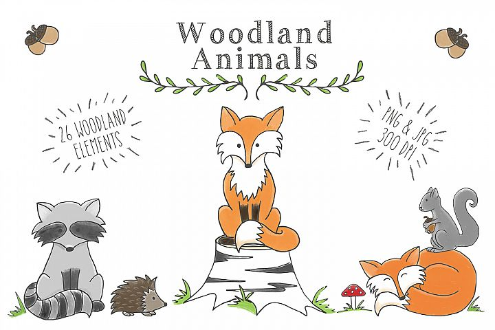 Woodland Animal Clipart Set - Free Design of The Week