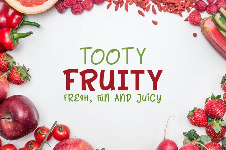 Tooty Fruity - Font Duo - Free Font of The Week