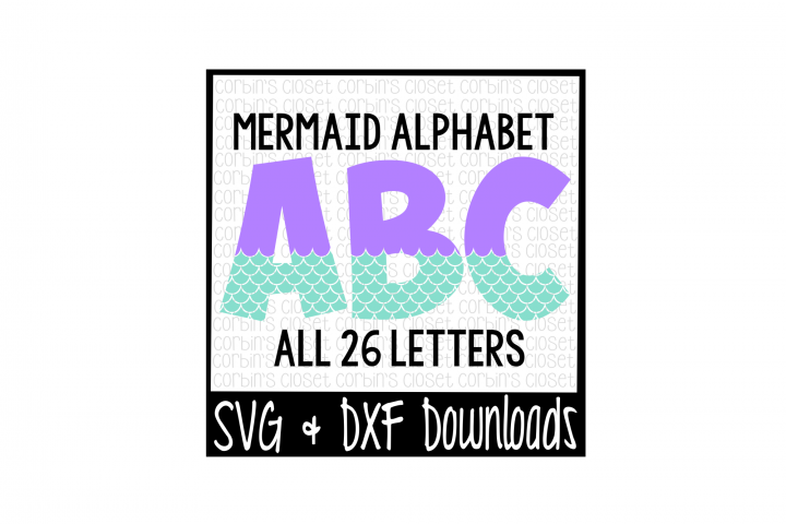 Mermaid Alphabet Cut File