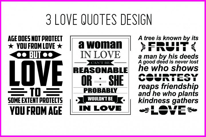 Love Quotes SVG Design Bundle Vol 2