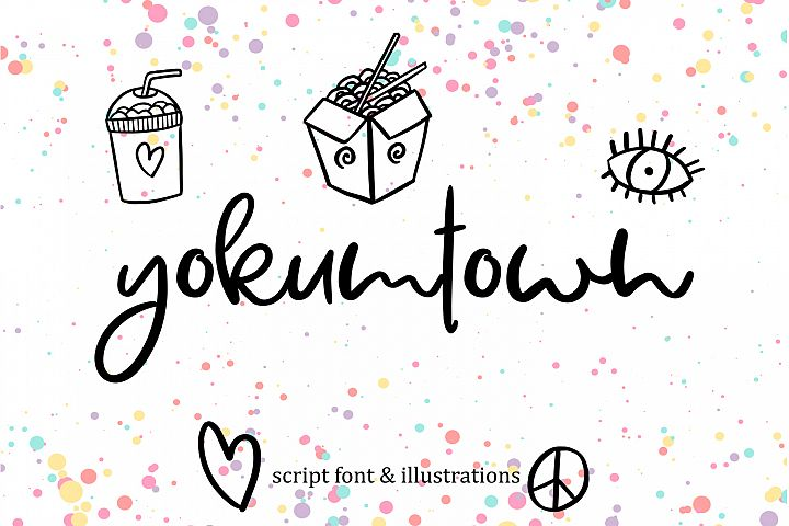 Yokumtown Script Font & Doodles