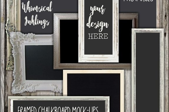 Framed Chalkboards Mock Ups Collection