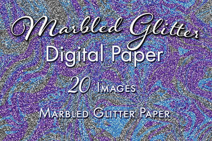 Marbled Glitter - 20 Digital Paper Images