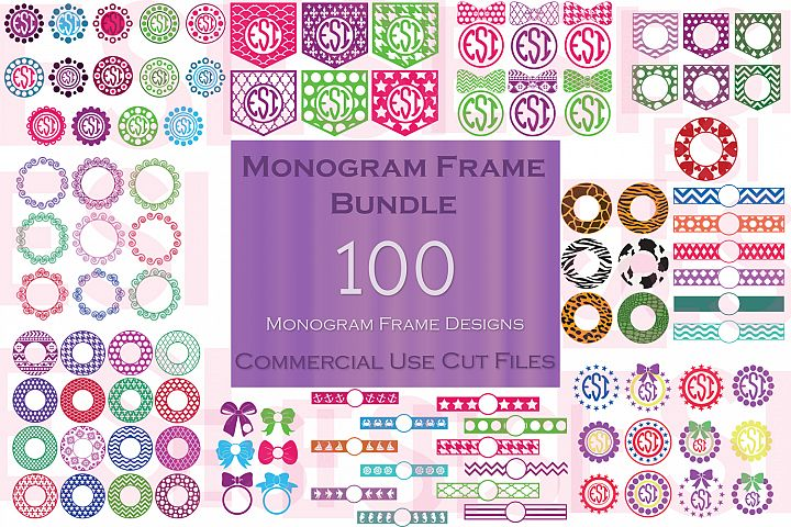 Monogram Frame Bundle - 100 Frames for Monogramming.