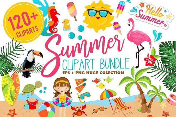 Summer Clipart Bundle - 126 cliparts