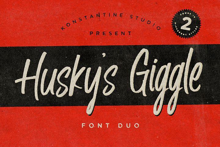 Husky Giggle - Casual Brush Handwriting Font