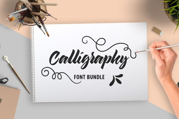 Calligraphy Fonts Bundle