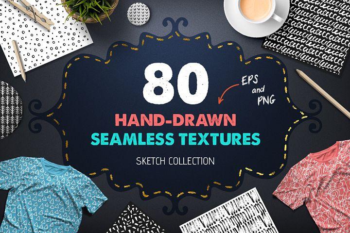 80 Hand Drawn Seamless Textures