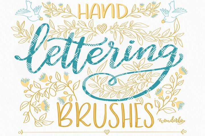 Proreate Lace Brushes Set for hand lettering