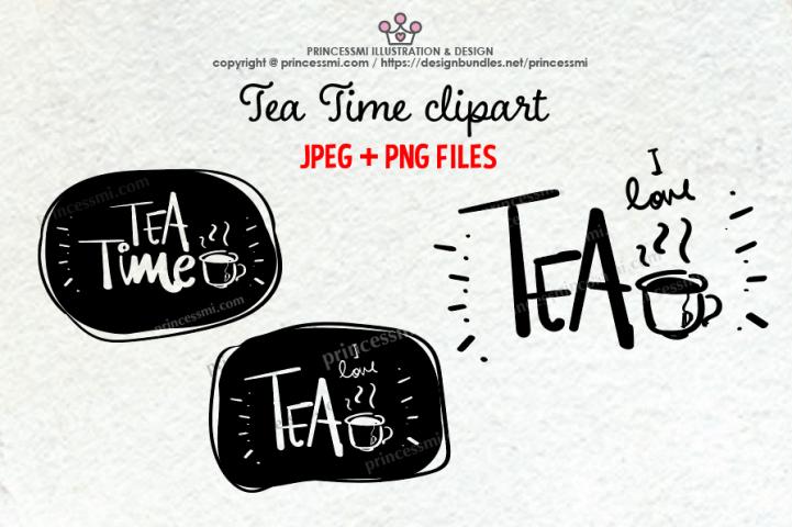 Tea Time clipart set