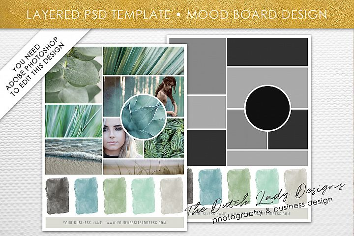 PSD Mood & Vision Board Template #6
