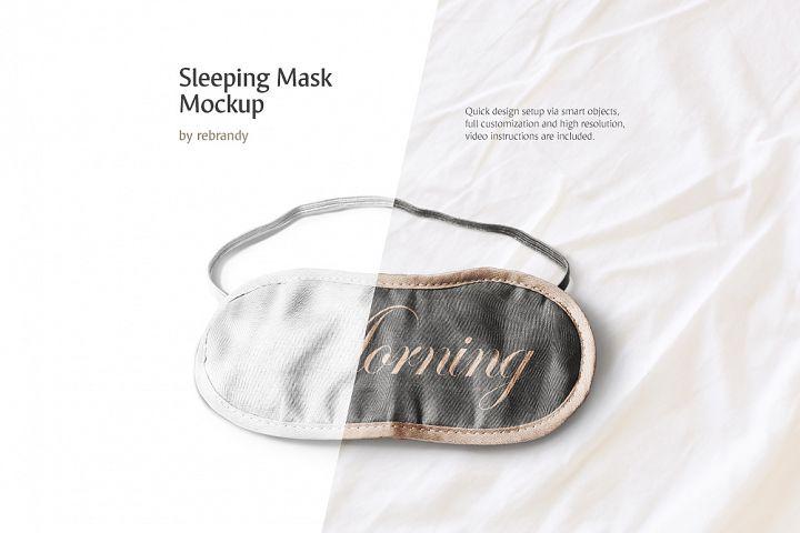 Sleeping Mask Mockup (blindfold mock up, eyemask mock-up, accessory mockup)