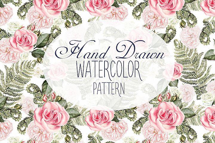 13 Hand Drawn Watercolor Pattern