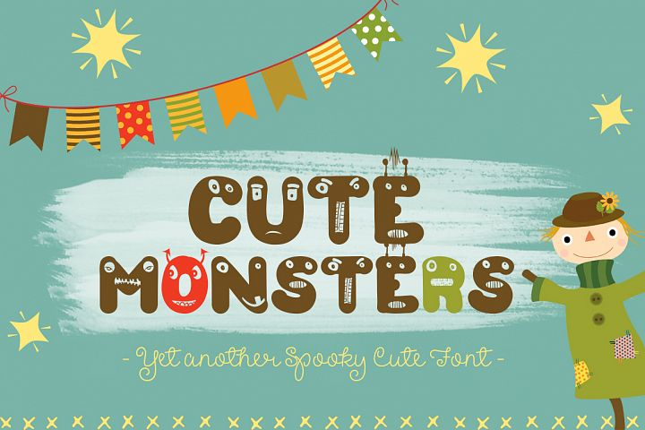 Cute Monsters – A Spookily Cute Halloween Font