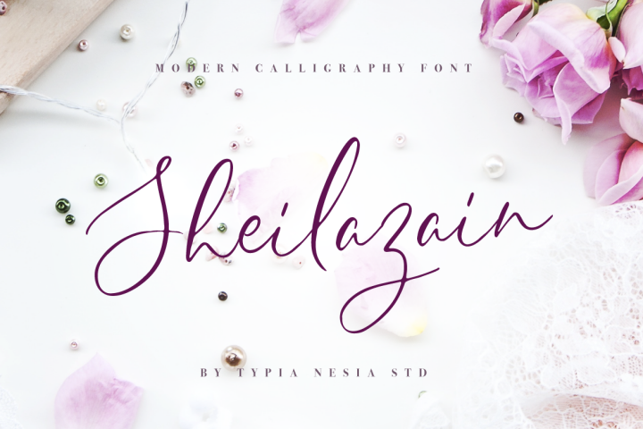 Sheilazain - Free Font of The Week
