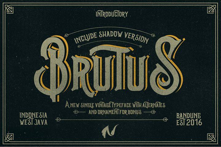 Brutus Typeface