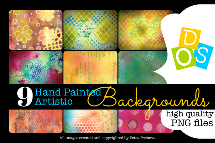 9 Hand Painted Artistic Backgrounds