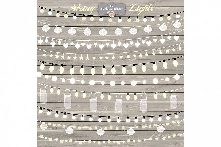 VECTOR String Lights Clipart